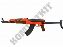 P1093-S BB Gun AK47 Replica Spring Airsoft Rifle 2 Tone Orange Black